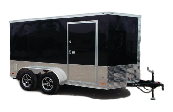 Covered Wagon 7x12 Enclosed Cargo Trailer